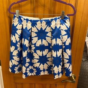Alice and Olivia blue and white floral skirt